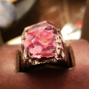 Secret Wood Flower ring